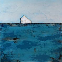 Abstract Barn Paintings | Abstract Landscape painting - Abstract Barn Painting, White Barn ...
