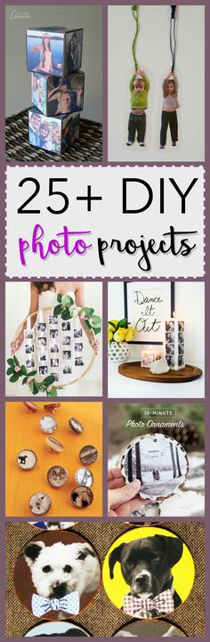 Preserve your favorite memories by creating a personalized DIY photo project. Here we have gathered 27 awesome DIY photo projects to get you started!