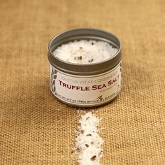 Truffle Sea Salt | $23 The impossibly rich, seductive flavor of black truffles defines this Truffle Sea Salt. Available at: manykitchens.com