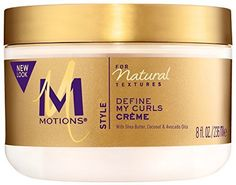 One 8-ounce jar of Motions Naturally You, Define My Curls Creme  Rich creme-gel with shea butter, coconut and avocado oils  Defines curls while reducing frizz, leaving your hair feeling soft and looking shiny and healthy  For naturally curly st...