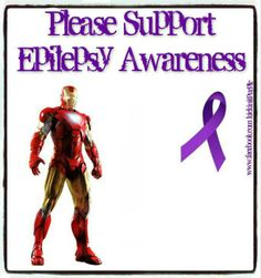 Iron man supports Epilepsy Awareness