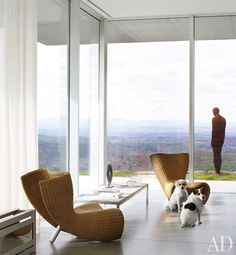 a modern Hudson Valley home with an amazing view