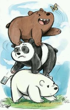 Read Ice Bear's Favour from the story You just know what I like (We Bare Bears x Reader) by SurgeryOnAGrapeOMG (A Rando. drawing bear You just know what I like (We Bare Bears x Reader) - Ice Bear's Favour Disney Drawings, Cartoon Drawings, Animal Drawings, Cartoon Art, Disney Character Drawings, Disney Sketches, Ice Bear We Bare Bears, We Bear, Cute Panda Wallpaper