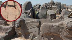 Pegadas gigantes são descobertas no templo de Ain Dara na Siria - Seriam marcas dos antigos Deuses? ~ Sempre Questione
