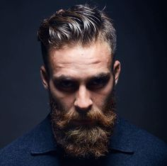 Perfect hair and beard.