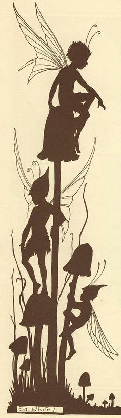 Shadow Illustration by Jo White  1920s