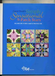 9 patch star - Ludmila2 Krivun - Picasa Webalbumok Star Blocks, Quilt Blocks, Inspirational Readings, Sewing Magazines, Crochet Cross, Book Quilt, Book Crafts, Craft Books, Quilting Projects