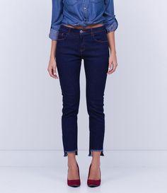 b1b6aaa33 Calça Cigarrete Jeans com Barra Cortada - Lojas Renner