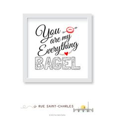 Say you love her New York Bagel style! by atelier abeille on Etsy