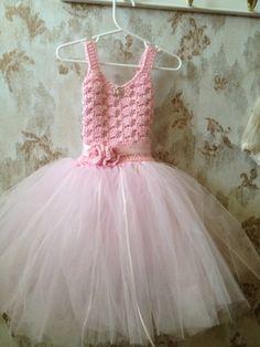 Flower girl tutu dress pink flower girl tutu dress flower por Qt2t