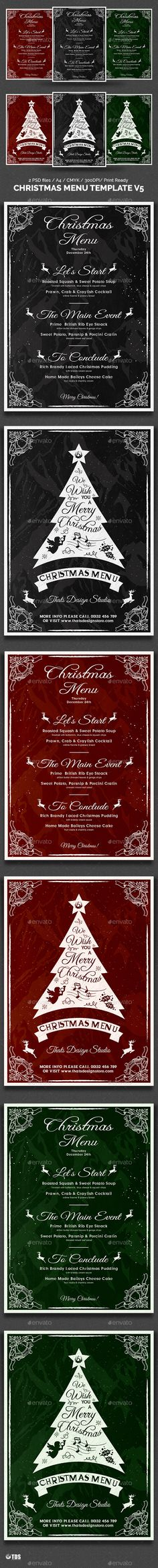Christmas Menu Template V3 Christmas menus, Templates and Christmas - christmas menu word template