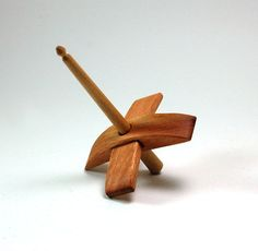 Beautiful handmade Lyptus & maple Turkish style drop spindle from subterreanwoodwork.