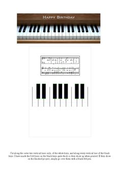 Shoshiplatypus: Hand-Made Cards - Pop-Up Card with Piano Keyboard