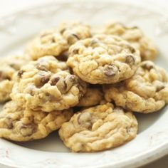 Rice Crispy Chocolate Chip Cookies. Just pretend you're eating cereal for breakfast!
