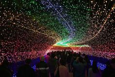 These incredible light installations in Nabano no Sato's botanical garden in Japan might just be the greatest winter light show in the whole country. Millions of brilliant LED lights arranged in intricate patterns and arrangements illuminate this already beautiful garden, creating a visual experience like no other.