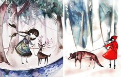 watercolor illustrations from emma sancartier