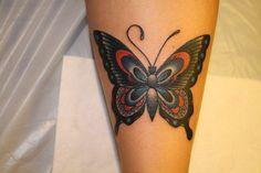 Butterfly Tattoo Old School Lilzeu De Tattoo