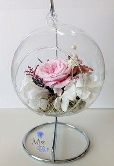 [미스블루] 특별한 결혼 축하선물로 유리볼 프리저브드 플라워 : 네이버 블로그