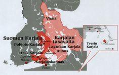 Karjalan alueet | Karjala on maantieteellinen alue Suomessa ja Venäjällä. Karelia is  the geographical area in Finland and Russia.