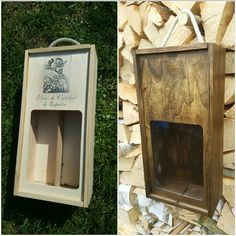 From old vine bottle case to rustical cash box.