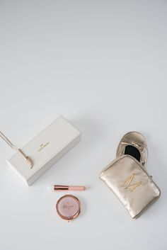 Personalize your gifts for your bridal party to add that extra loving touch! Personalized jewelry boxes, compact mirrors, or pocket shoes are just a few options they'll love!