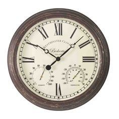 <p>The Bickerton Wall Clock and Thermometer's vintage design will add a touch of class to any setting. Featuring a durable wood-effect frame and plastic case, this clock is suitable for use indoors or outdoors. </p>