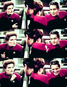 Janeway and Chakotay-they were so in love. Come in writers!