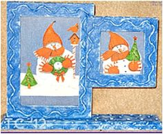 Snowman Double Frame (with tutorial)