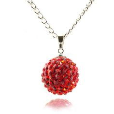 Union Jack Collection - Team GB Lemonade Crystal Ball Necklace Red - 4EverBling