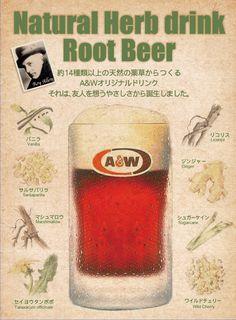 A&W comenzó en 1919 en Lodi, California, cuando Roy Allen se asoció con Frank Wright para ayudarlo con los negocios de 'cerveza de raíz' que había comenzado en ese mismo año. Sus productos llevan la marca A&W Root Beer por los apellidos de sus dueños. A&w Restaurants, Taraxacum Officinale, A&w Root Beer, Natural Herbs, Craft Beer, Drinks, Soda, Nostalgia, Initials