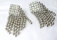 Vintage Earrings Hobe Pull Chain Rhinestones by EclecticVintager, $38.00