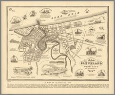A Map of Cleveland – 1836 (1937)