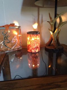 Camo Scentsy Decor Next To Mossy Oak Lamp In Living Room.  Www.makesscentswright.