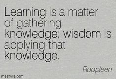 Learning&knowledge
