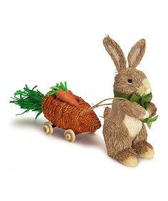 Loving this Bunny & Carrot Wagon Figurine on #zulily! #zulilyfinds