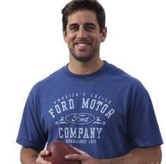Aaron Rodgers - and he's wearing a Ford shirt! <3