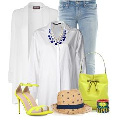 """""""White Shirt and Jeans 2"""" by justjules2332 on Polyvore"""