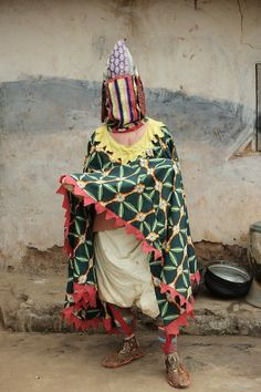 """Yoruba Egungun / Spirit """"Egungun"""" — one of the voodoo ceremonies. Dressed actors portray the spirits of the past that come to Earth to help people and become implanted in them."""