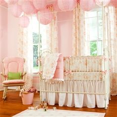 Nothing says girly like shabby chic! Loving all these crib bedding sets and nursery decor. You can even design your own!