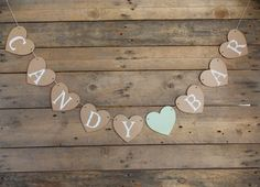 "Heart Shape Garland ""Candybar"" - Wedding, Decoration, Garland, Banner"