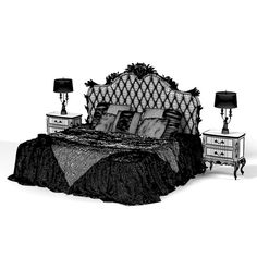 Gothic bedroom set gothic interior, gothic home decor, interior exterior, d Gothic Interior, Gothic Home Decor, Interior Exterior, Spooky House, Bedroom Sets, Dream Bedroom, Bedroom Decor, Gothic Bedroom, Goth Home