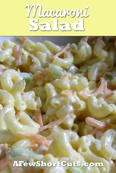 Macaroni Salad #recipe. Can be made Gluten Free Too!