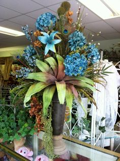 silk arrangement designed by Lisa Davis