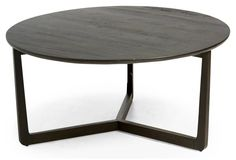 """Messina 40"""" Round Coffee Table, Brown"""