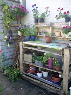 my plant table made of recycled pallets ;-)