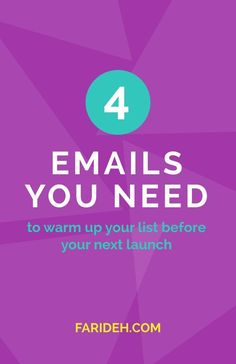 The 4 Emails You Need to Warm Up Your List Before Your Next Launch (Guest Post with Whitney Ryan) || launch, list, e-mail, prelaunch, warm up, infopreneur, email list, launch prep, online course, blog Passive income|Online Business|6 figures|Build E-mail List|