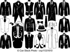 Illustration of Suits illustration set vector art, clipart and stock vectors. Fashion Design Drawings, Fashion Sketches, Suit Drawing, Suits Tv Shows, Look At My, Drawing Anime Clothes, Poses References, Art Reference Poses, Character Outfits