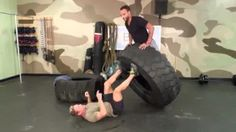 Steve Pfiester demonstrates 10 exercises you can do with a tractor tire. Outdoor Gym, Outdoor Workouts, At Home Workouts, Gym Workouts, Tire Workout, Boot Camp Workout, Butt Workout, Tractor Tire, Diy Home Gym