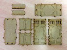 3 terrakami games sci-fi containers laser cut wargaming terrain 40k