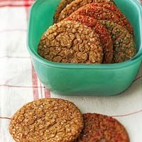 Crisp on the edges and slightly chewy on the inside, these snappy ginger-flavor cookies are a favorite any time of the year.